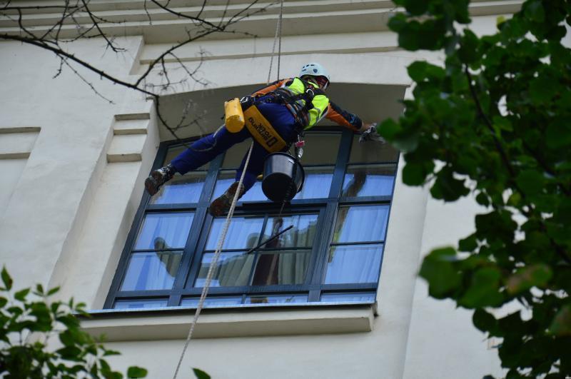 Mycie okien.